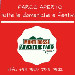 Parco aperto tutte le domeniche e festivi